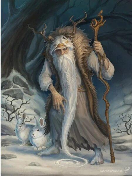 Карачун (Корочун) злой горбатый старикан, по снегу ходил босиком. Прообраз деда Мороза и Морозенко. Изначально уничтожал некачественных детей