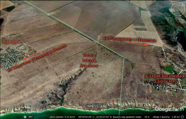 карта. Старая Богдановка и окрестности. Бугский лиман
