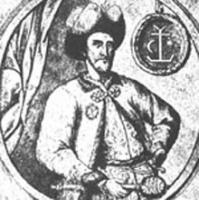 гетман Мазепа на фоне родового герба