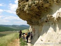 школьная экскурсия на пещерный город Бакла