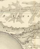 озеро Донузлав и его берега на карте 1817 года