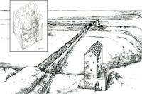 длинные стены поперек Керченского полуострова