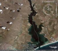 вид на озеро Донузлав и окрестности из космоса