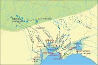 Великая Скифия (5 век до новой эры), реконструкция Игоря Русанова на основе данных морской геоморфологии