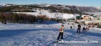 Ай-Петри, склон для начинающих с прокатом лыж и сноубордов