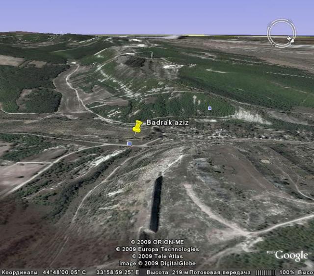Бадрак-азиз на пересечении двух разломов. Между селами Скалистое и Трудолюбовка. Бахчисарайский район