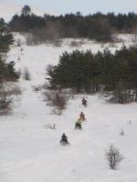 мотосани (снегоходы) на Ай-Петри, Крым
