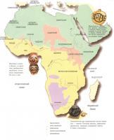 на этой карте ясно, что процесс заселения Африки идет от Аравии, носители семитских языков вытесняют более древние группы, ясно, что человечество НЕ могло возникнуть в Африке