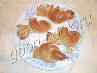 булочки-жаворонки с сайта Хорошая кухня