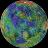 Топографическая карта Венеры