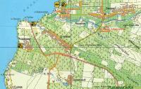 карта маршрута от долины Качи к долине Улу-кол и Альмы