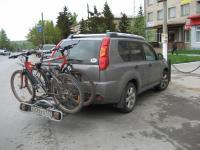 навесная стойка для транспортировки велосипедов на фаркопе