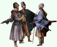 черкасы, костюм, вооружение, бритая голова с клоком волос