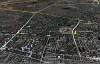 гугловский снимок и маршрут от жд вокзала через Гагаринский парк и Набережную реки Салгир к Симферопольскому водохранилищу