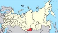 Республика Тува на карте Российской федерации