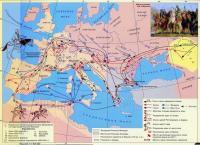 государства аланов и вандалов в Европе после Великого переселения народов, карта