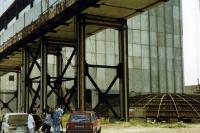 Крымская атомная станция. Корпус главного реактора и колпак реакторного зала, лето 1994 года