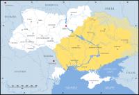 примерное расположение земель Дикого поля (Крымской украйны, Рязанской Окраины) на современной карте Украины