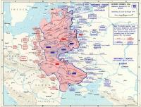 карта Вторжение немецко-фашистских войск на Советский Союз в 1941 году