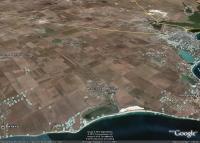 Молочное, Витино и окрестности к северо-западу от Евпатории на космических снимках Гугл Земля