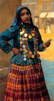 женский цыганский костюм с монистами из монет