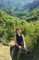 Zwerenka на конной прогулке у Долины Привидений. В период беременности