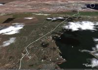 Керчь, Старокарантинский пляж и окрестности на космических снимках Гугл Земля