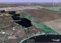 Побережье Черного моря возле Коблево на снимках Гугл Земля