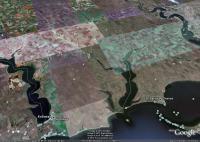 Курорт Коблево у берегов Тилигульского лимана и Черного моря, Николаевская область, юг Украины (Гугл Земля)