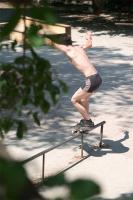 рейл на бывшей танцплощадке (улица Минная), Севастополь, визит москвичей из скейт-шопа ПРОВОКАТОР, 2006