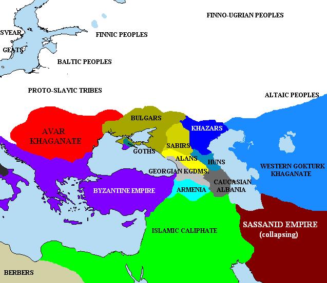 Народы и государства Европы во времена Хазарского каганата