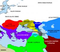 Великая Болгария, Хазарский каганат и другие страны раннего средневековья