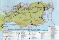 карта туристических достопримечательностей Керченского полуострова, составитель В. Хачатурян (Симферополь)