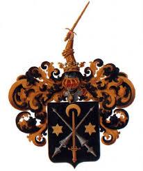 Герб князя Плаксы (Палаксай - Огня царь). Участие в крестовых походах, победа над мусульманами, нобилитация двух рыцарей. Черный фон означает черкесское происхождение.