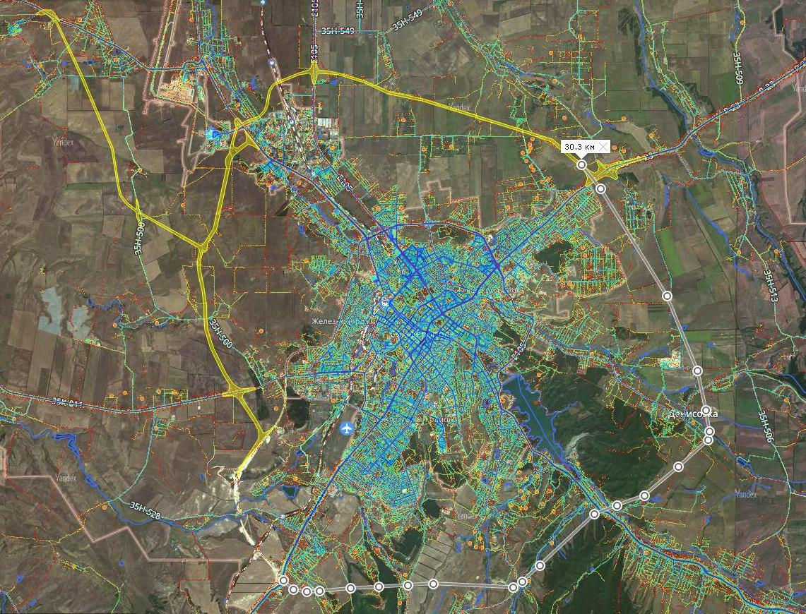 проект СКАД Симферопольской кольцевой автодороги. Северная часть готова. По южной части не ясно даже с проектом